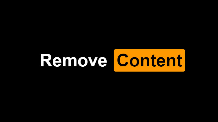 Pornhub support remove content